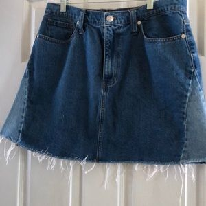 Made well denim skirt